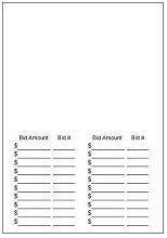 Part Small Printed Silent Bid Sheet